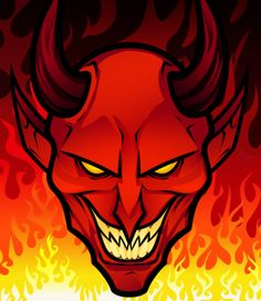 How to Draw a Devil Face, Step by Step, Concept Art, Fantasy, FREE Online Drawing Tutorial, Added by Dawn, October 30, 2012, 11:33:14 pm