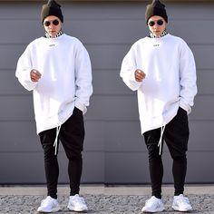 More looks by Lukas L.: http://lb.nu/whoislukas  #street #misbhv #snob #nusr_et #vantvaart #offwhite #off #sweater #hoodie