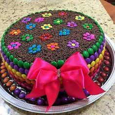 46 new Ideas cake easy decoration birthday kids Torta Candy, Candy Cakes, Cupcake Cakes, Cake Fondant, Cute Cakes, Yummy Cakes, Birthday Cake Decorating, Homemade Chocolate, Creative Cakes