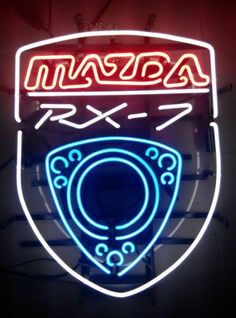 Mazda Neon Sign Real Neon Light Source by Car and truck images Mazda Neon Sign Real Neon Light Related Mazda Rx 7, Cool Sports Cars, Sport Cars, Acura Nsx, Auto Glass, Neon Light Signs, Rx7, Beer Signs, Beer Bar