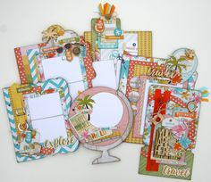 Here is a look at the inside pages from our tropical paradise mini album designed using the You Are Here collection from Simple Stories. Click through for all the details.