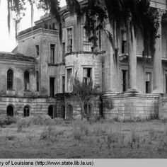 How they looked before restoration.    This is Belle Grove. It was never restored but was torn down after a fire.