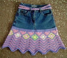 Con terminación en crochet, muy elegante