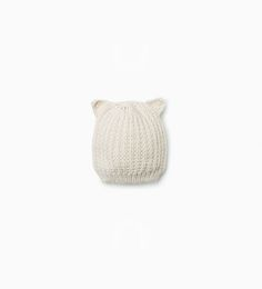 Image 1 of Knit hat with ears from Zara