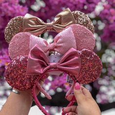 The millennial pink ears were released today at Disneyland Repost from @disneywhereeverwemaygo - My pink collection is complete! …