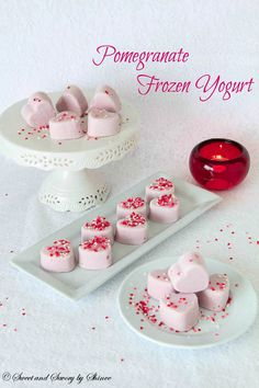 Sweet, yet slightly tangy frozen yogurt is perfect finish to a beautiful dinner on Valentine's day.