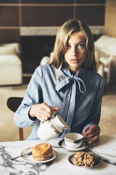 bow-tie blouse | Camille De Dampierre