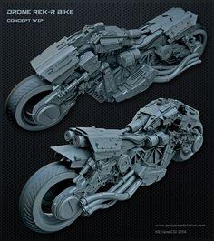 Drone REK/R Bike WIP, Paul Massey on ArtStation at http://www.artstation.com/artwork/drone-rek-r-bike-wip