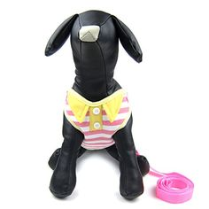 Alfie Pet by Petoga Couture  Eden Stepin Harness and Leash Set  Color Pink Stripe Size Medium -- To view further for this item, visit the image link.Note:It is affiliate link to Amazon.