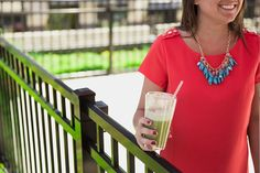 The new Jamba at Home Green Smoothie pairs well with a good fashion sense.