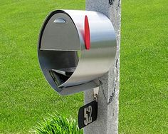 Spira - Large Contemporary Post Mount Mailbox - Stainless Steel - M001SS