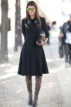 Giovanna Battaglia. Black dress