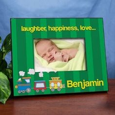 Personalized Choo Choo Train Baby - Kids Picture Frame