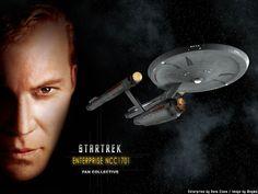 Star Trek Wallpaper   Trek Enterprise NCC1701 - free Star Trek computer desktop wallpaper ...