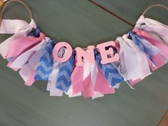 Winter ONEderland - First Birthday Pink and Baby Blue ONE Rag Banner for Little Girl - Bunting - Sign for Birthday Party - Photoshoot Prop on Etsy, $18.00