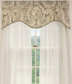 Casablanca Lined Scalloped Valance At Country Courtains Maybe For The Formal Living Room