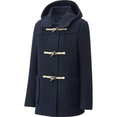 Wool Blended Duffle Coat, $100 | Uniqlo