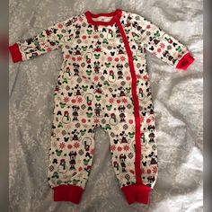 Baby Boys Christmas Elf All In One Babygrow Fancy Dress Costume With Hat ~ 1m