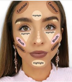 How to Contour & Highlight 👑 {The highlight part is using a concealer, not an actual highlighter} Contouring the makeup technique that is on fire now Makeup - Diy Make-up Makeup Source by jasinskiteresa Eye Makeup Steps, Makeup Eye Looks, Eyebrow Makeup, Skin Makeup, Blue Makeup, Glitter Makeup, Smokey Eye Makeup, Eyeshadow Makeup, Makeup 101