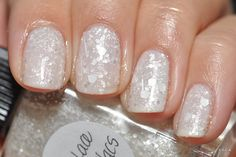 Love, Lace and Lilacs over Essie Marshmallow - 3 coats Lynnderella over 2 coats base colour