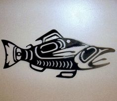 DAD  Metal Pacific Northwest Indian Salmon - Wall Art. $30.00, via Etsy.