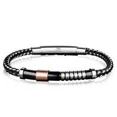 Black Steel & Rose Gold Bracelet