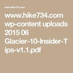 www.hike734.com wp-content uploads 2015 06 Glacier-10-Insider-Tips-v1.1.pdf