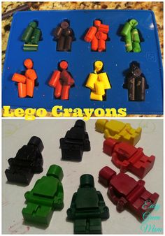Lego Crayons for Party Favor Bags