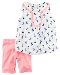 Kid Girl 2-Piece Printed Tank & Neon Playground Short Set from Carters.com. Shop clothing & accessories from a trusted name in kids, toddlers, and baby clothes.