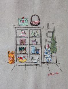 Sewing Illustration by Minki Kim
