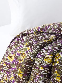 Love the print and the vibrant green and purple colors of this duvet.  Statement bedding.Small Earth Snake Duvet by Diane von Furstenberg Bedding on Gilt Home