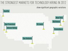 Strongest markets in USA for technology hiring in 2012