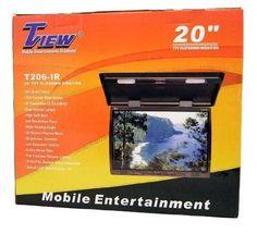 "TView T206IR 20"" Flip Down TFT Truck Video Monitor IR TransmIT  #TVIEW"