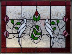 Morning Doves Stained Glass Window by DebsGlassArt on Etsy