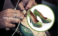 Our qualified personnel processes each shoe separately aiming for a perfect result. Shoes Handmade, Pumps, Heels, Shoe Collection, Summer Shoes, Spring Summer, Leather, Fashion, Heel