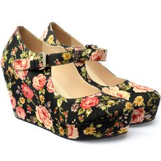 Fall in Love Once is Never Enough! CLAIRE vintage floral - UP shoes bring love everywhere!