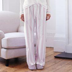 Stripe Flannel Pyjama Bottom   The White Company