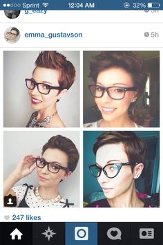 Pixie cut is so cute with glasses!!!