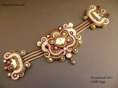 Soutache Bracelet Soutache Designer Bracelet brown door ZoojaDesign, $125,00