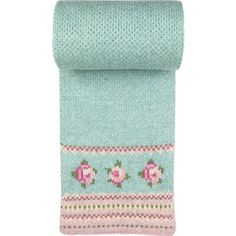 To knit in the round in fine yarn with Eye of Partridge stitch on body of scarf. Cast on with provisional cast on and knit a little lace edge or perhaps to crochet one on instead? Cath Kidston - Ring of Roses Scarf