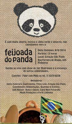 Convite Feijoada do Panda Complements + Casa Hope = complemento essencial responsabilidade social como essência da elegância atemporal.