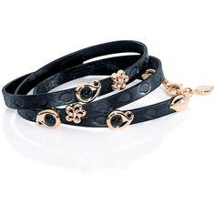 Tamara Comolli Loopy Beluga Onyx Leather Wrap Bracelet ($4,680) ❤ liked on Polyvore featuring jewelry, bracelets, leather wrap bracelet, onyx jewelry, wrap bracelet, 18k bangle and 18 karat gold jewelry