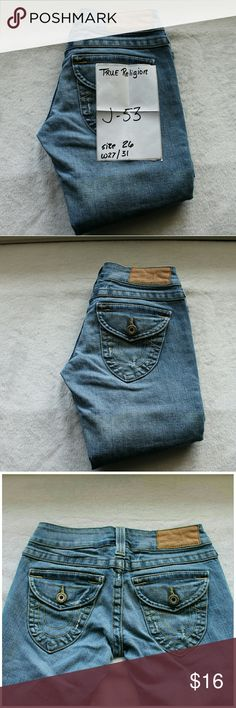TRUE RELIGION j53 Dark Wash Sz 26 Size 26 womens inseam 31 True Religion Jeans