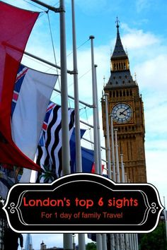 London top 6 sights in one day for family travel.