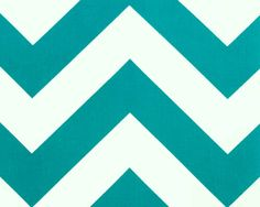 Large Chevron Fabric by the Yard Home Decor Zippy true turquoise aqua teal white zigzag Premier Prints - 1 yard or more - SHIPS FAST