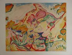 Othon FRIESZ Paysage à la ciotat Lithographie sur papier Vélin Arches, d'après un tableau de 1905 Signée dans la planche 50 x 65 cm