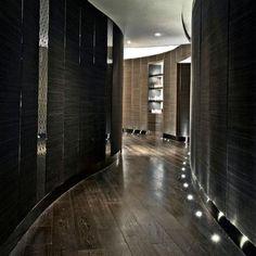 Modern Locker Room Design   Dark, Wood Plank Look   The Ritz‐Carlton Spa by ESPA   Hong Kong, Japan