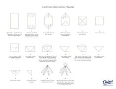 TREE FOLDING NAPKIN HOW TO