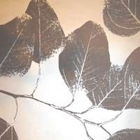 grey/silver leaf wallpaper from wallnut