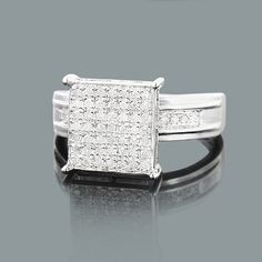 Sterling Silver Engagement Rings: This Ladies Diamond Ring showcases 0.30 carats of genuine diamonds and a luxurious rhodium plating for extra shine. This sterling silver diamond ring is an affordable alternative to expensive gold jewelry.
